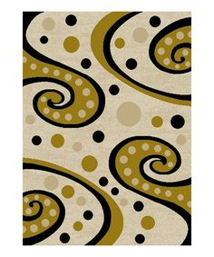 Love this Tone Swirly Rug on #zulily! #zulilyfinds