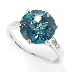 Bold and blue, this ring was meant for you! Designed in sterling silver, this ring showcases an round London blue topaz stone in center. Blue Topaz Stone, White Topaz Rings, London Blue Topaz, Beautiful Things, Engagement Rings, Gemstones, Jewellery, Sterling Silver, Diamond