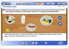 """""""Alimentación sana"""" (Aplicación interactiva de Ciencias Naturales de Primaria) Science Area, Healthy Eating, Teaching Resources, October"""