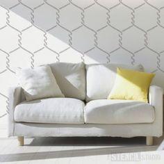 Wire Mesh Stencil- Buy reusable wall stencils online at The Stencil Studio