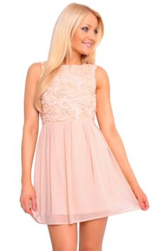 This stunning dress features a lace bodice with a open back style and skirt with gathered pleats. Perfect for an occassion, this dress is a must have, effortless, stylish and feminine. By Elise Ryan End Of Season Sale, Lace Bodice, Stunning Dresses, Skater Dress, Floral Lace, Must Haves, Feminine, Craft Ideas, Wedding Ideas