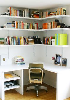 space saving ideas and furniture placement for small home office