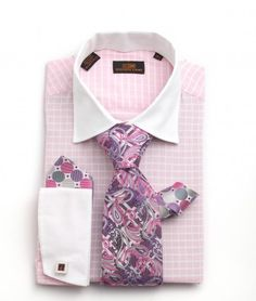 Dress Shirt by Steven Land Spread Collar French Cuff Pink DS1106PI | SHIRT AND TIE STORE