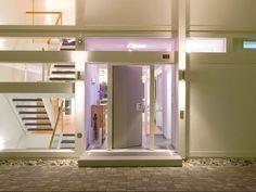 Huf Haus - Beautiful door/frontage to Huf Haus and lighting.