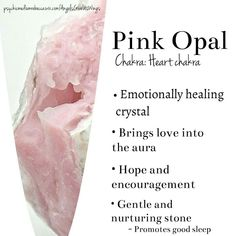 Pink Opal crystal meaning