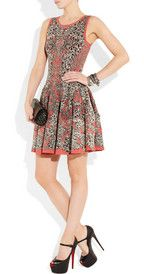 Alexander McQueenFlared barnacle-intarsia dress