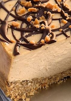 Peanut Butter Cheesecake with Pretzel Crust