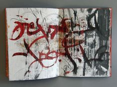 """Sketch Book Laura Wait, Codices Palimpsestus II from Liber I-IV , 2014 - A series of abstract manuscript books inspired by the paintings """"Mura Scrittura"""" - Folded Book Art, Paper Book, Paper Art, Book Folding, Cut Paper, Artist Journal, Artist Sketchbook, Sketchbook Pages, Book Sculpture"""