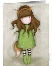 Gorjuss Stitched Notebook with Cover - The Fox from Santoro London Pretty Pictures, Art Pictures, Illustrations, Illustration Art, Santoro London, Ribbon Bookmarks, 3d Cards, Hello Dolly, Mixed Media Canvas