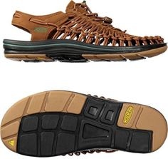 There's unique, and there's the KEEN Uneek flat-cord sandals. Using innovative construction, these distinctive sandals mold to your feet for a perfect fit in and out of the water. Keen Uneek, Wrap Shoes, Huaraches, Hiking Boots, Perfect Fit, Cord, Sandals, Brown, How To Wear