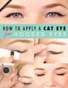 Cats eye flick for hooded eyelids