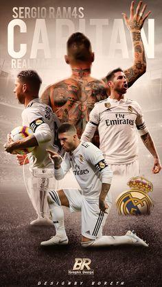 Real Madrid Football, Real Madrid Players, Ramos Haircut, Real Madrid Logo Wallpapers, Santiago Bernabeu, Lion Wallpaper, Soccer Pictures, Football Design, Sports Graphics