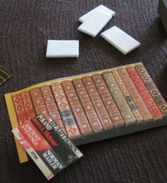 how to: faux books -Make a secret hiding place for them. I would have loved this when I was a kid-