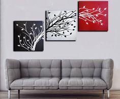 cuadros abstractos tripticos modernos pintados a mano 150x50 Multi Canvas Painting, 3 Piece Canvas Art, Canvas Painting Tutorials, 3 Piece Wall Art, Canvas Wall Art, Triptych Wall Art, Painting Inspiration, Diy Art, Art Projects