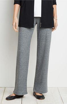 Pure Jill mélange full-leg pants