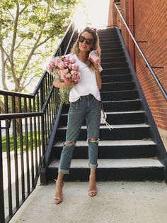 Daily Style Diary: Relaxed Denim and A White Tee. Perfect summer time look