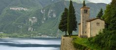The Chapel of Il Palazzo embraced by mountains high above lake Idro | Flickr - Photo Sharing!