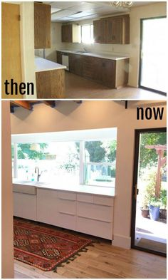 Ikea Kitchen before ans after!  LOVE it!  @ikea