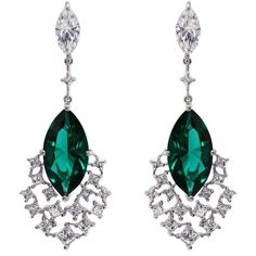 Carat Peacock Cocktails Drop Earrings ($375) ❤ liked on Polyvore featuring jewelry, earrings, evening earrings, cluster drop earrings, peacock feather jewelry, holiday earrings and earring jewelry