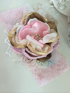 Baby Girl Headband-baby headband-flower by AvryCoutureCreations
