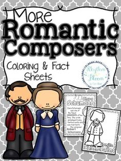 Romantic Composers Coloring and Fact Sheets Set 2 Music Activities, Camping Activities, Romantic Composers, Music Classroom, Classroom Ideas, Music School, Piano Teaching, Music Composers, Elementary Music