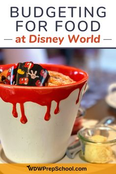 Most people won't go to Disney World without dining out at least once. We have a handy spreadsheet that can help you figure out just how much to budget for food and dining expenses on your next Disney World vacation. Dining At Disney World, Disney World Food, Disney Dining Plan, Disney World Vacation, Disney Vacations, Disney Trips, Disney On A Budget, Disney Fun, Magic Kingdom Food