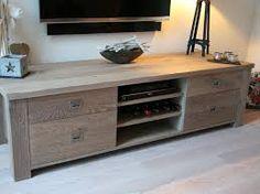 Afbeeldingsresultaat voor hangend tv meubel eiken