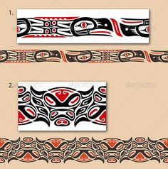 Haida style seamless pattern - Tattoos Vectors