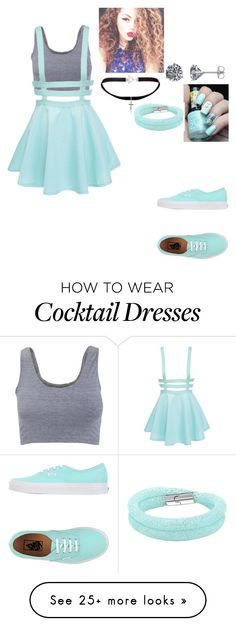 """""""Untitled #212"""" by dessireejusino92501 on Polyvore featuring American Apparel, Yves Saint Laurent, Swarovski and Vans"""