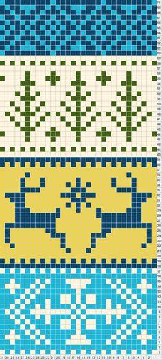 Ideas For Crochet Scarf Chart Fair Isles Fair Isle Knitting Patterns, Bead Loom Patterns, Knitting Charts, Loom Knitting, Knitting Stitches, Knitting Designs, Knitting Projects, Motif Fair Isle, Fair Isle Chart