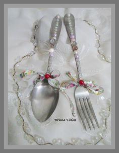 Decoração de talheres de pratas vintage - Bruna Talon