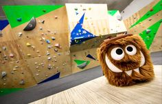 Chocolate Foodie Monster Chalk Bag by Crafty Climbing @craftyclimbing  at Bafard Climbing Gym