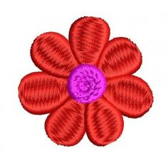 2x2 Red flower Embroidery Designs