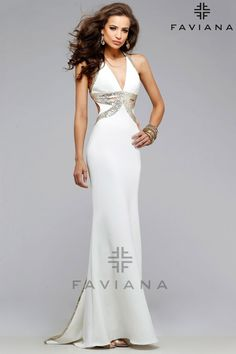7703 Ivory Cut-Outs Homecoming Dresses