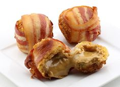 Deep Fried Bacon Wrapped Peanut Butter Balls