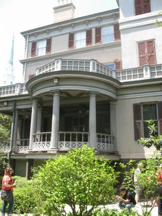 Juliette Gordon Lowe house in Savannah - what fun with Anna