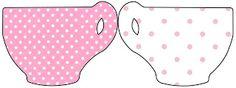 Rosa e Branco com Bolinhas – Kit Completo com molduras para convites, rótulos para guloseimas, lembrancinhas e imagens! |Fazendo a Nossa Festa