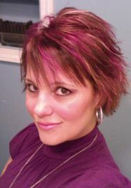 awesome highlights... From Becky's Beauty Hut, Emporium, PA. Hair Dye used: Special Effects Virgin Rose