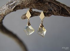 Geometric Citrine Earrings by ATELIER Gaby Marcos