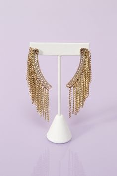 Chained Fringe Earrings #NastyGal