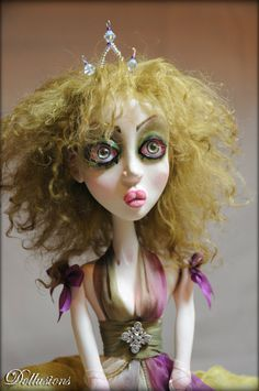 OOAK Art Doll Elven Queen of Summer Alysia by SweetDollusions, $460.00