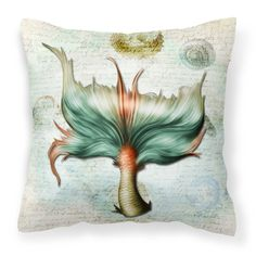 Caroline's Treasures Mermaids and Mermen Mermaid Tail Decorative Outdoor Pillow - SB3039PW1414