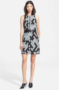 3.1 Phillip Lim Front Zip Jacquard Dress with Leather Belt available at #Nordstrom