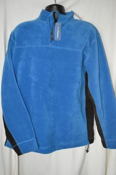 Gap Mens XX-Large 2XL Blue Black 1/4 Zip Pullover Fleece Sweatshirt NEW #gap #FleeceJacket