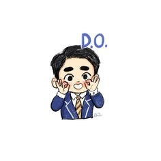 Baby Drawing Funny Ideas For 2019 Kyungsoo, Baekhyun Fanart, Fanart Bts, Chanyeol, Kaisoo, Exo Stickers, Cute Stickers, Exo Cartoon, Chibi