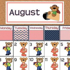 Add patterns & predictions to your calendar time with these adorable bear…