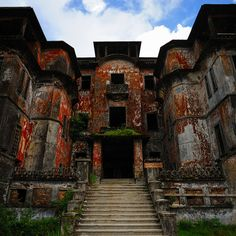 Bokor Hill Station, in Cambodia. Designed as a resort for the French colonists of the early twentieth century. The construction of Bokor Hill Station was complete by 1925. Built by indentured Cambodian laborers it took nine months to build. Almost a thousand men perished during that time.