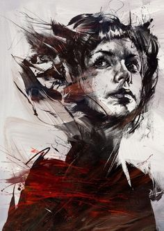 Digitally Assembled Paintings by Russ Mills. Idk this just made me think raven boys