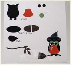 Owl stampin up punch art - Bing Images Up Halloween, Halloween Cards, Owl Punch Cards, Paper Punch Art, Owl Card, Craft Punches, Creation Deco, Stampinup, Fall Cards