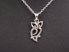 Remember your loved one with this Celtic Wise Owl Sterling Silver Pendant. Gorgeous little sterling silver owl on a branch pendant. His body resembles a heart. In ancient Egyptian, Celtic, and H Layered Necklaces Silver, Long Silver Necklace, Silver Bracelets, Silver Earrings, Silver Jewelry, Silver Ring, 925 Silver, Earrings Uk, Gothic Jewelry